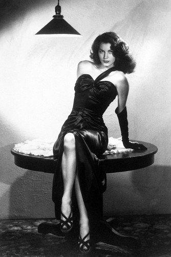 Ava Gardner black dress