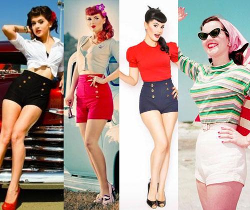 shorts vintage pin up