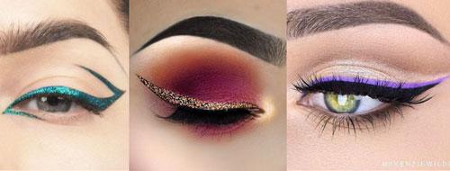 vari tipi di eyeliner colorati