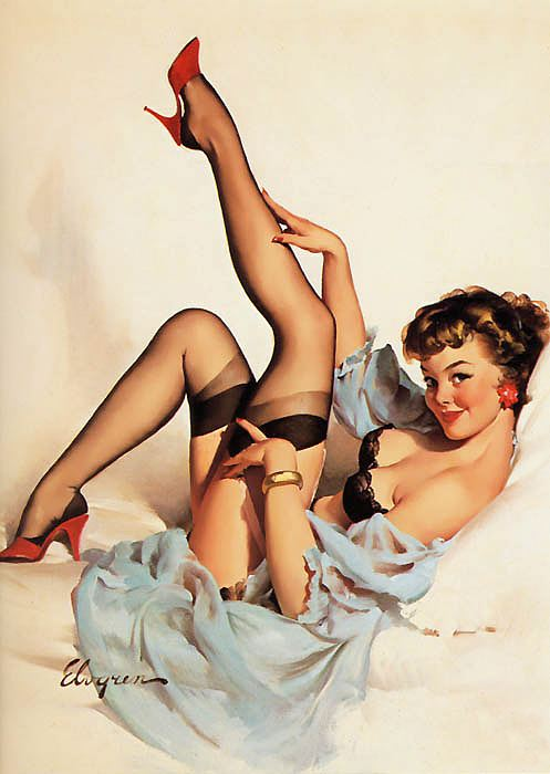 pose sensuali di una pin up