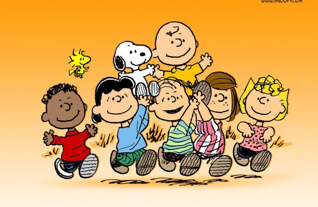 cartone animato peanuts snoopy di charlie brown