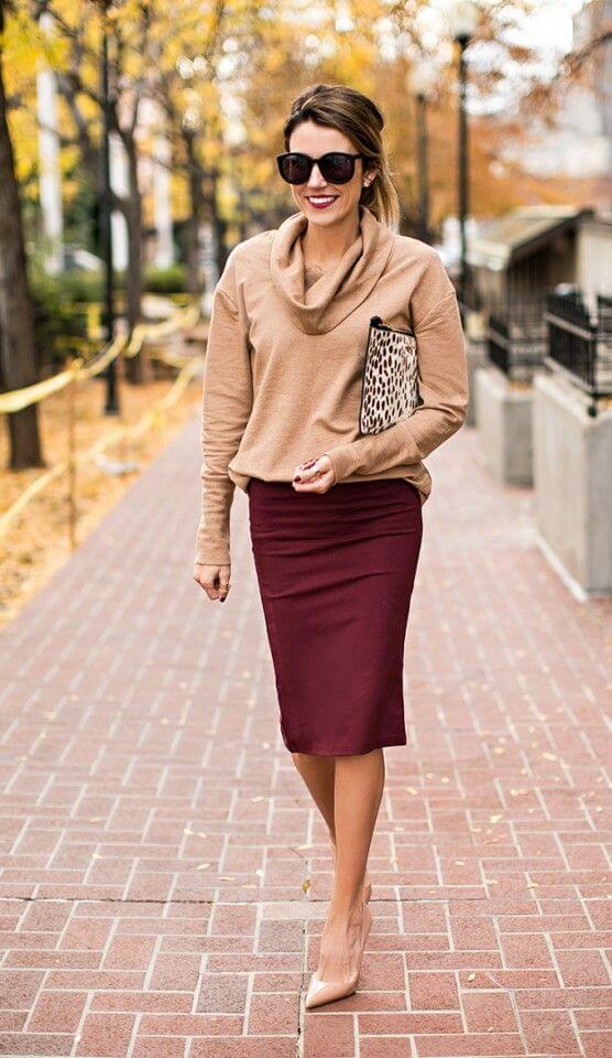 longuette con maglione oversize