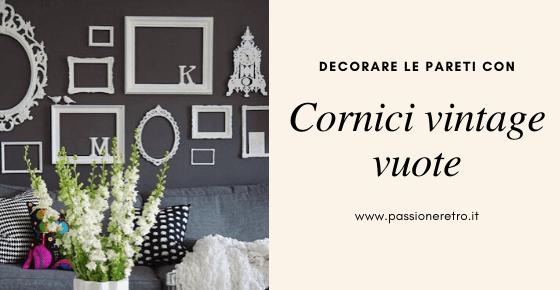 decorare le pareti con cornici vintage vuote
