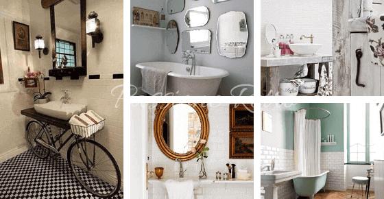 arredare il bagno vintage